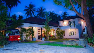Photo for MoonWater Villa for Groups - Yoga Shala  + Pool .7 Double Rms A/C+6 staff+hosts.