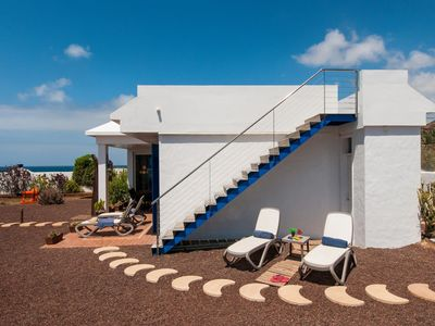 Photo for Spacious Las Salinas Beach House apartment in Gran Canaria with WiFi & private terrace.