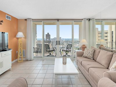 Photo for Beautiful 2 BR 2 BA Unit with Amazing Views, Ocean Front Building and 2 Pools!