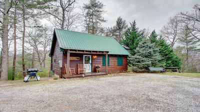 Photo for Cozy Private Log Cabin Centrally Located to Pigeon Forge & Gatlinburg with Views