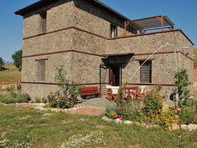 Photo for Traditional newly built stone house in Sithonia, a private sanctuary