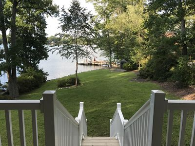 view of lake from house