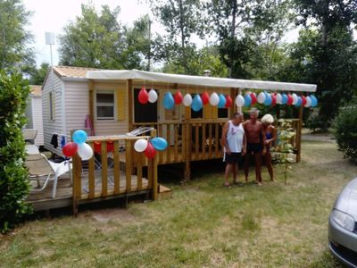 Photo for 2 bedroom mobile home, 4/6 sleeping 4