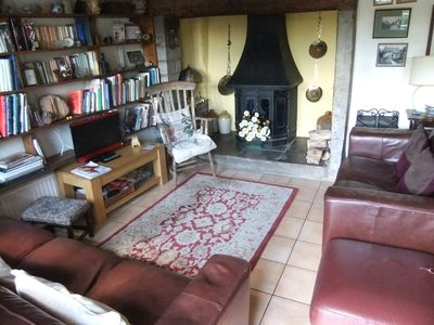 A cosy room even without a log fire burning in the inglenook.