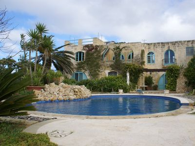 Photo for Gozo Farmhouse with pool, large garden & seaview