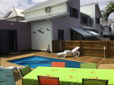 Photo for VILLA LE CATTLEYA, new house quiet, with its private pool near the lagoon