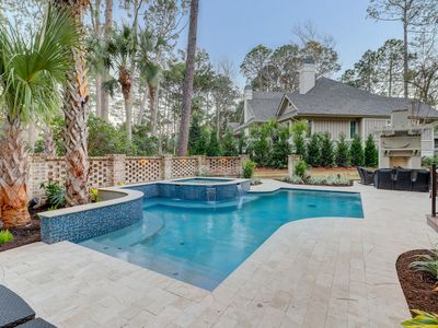 Photo for Huge, luxurious home with private pool - steps to the beach