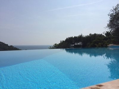 Photo for Dreamy Villa with sea water pool and spectacular view