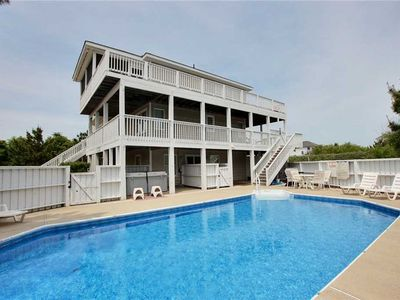 Photo for #4000: OCEANSIDE in Corolla w/HtdPool, HotTub & RecRm w/PoolTable
