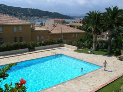 Photo for Sea view, WIFI, in center of the village, swimming pool, tennis ... All on foot