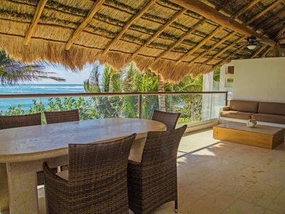 Photo for Spectacular Beachfront in the unique akumal bay