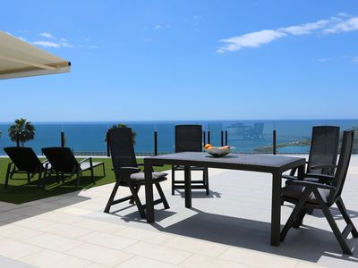 Photo for Newly built apartment with 256 sqm terrace and spectacular sea view
