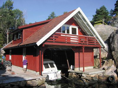 Photo for Holiday house in Southern Norway - directly on the water for families and anglers