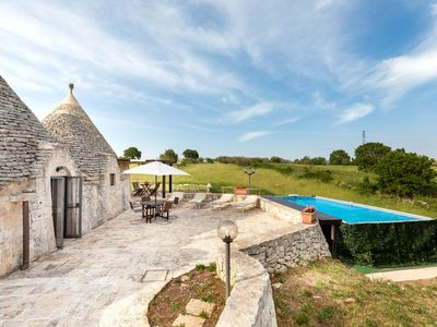 Photo for Trullo with stunning view-pool