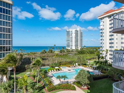 Photo for Renovated beach condo with balcony in every room