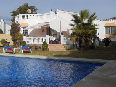 Photo for Beautiful family villa with pool, near the beach, at family-friendly prices.