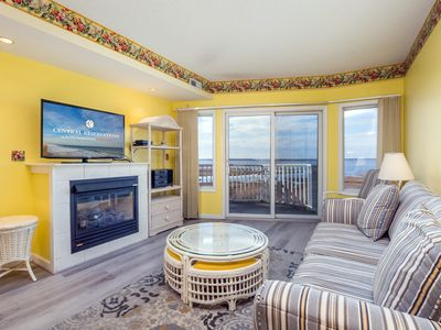 Photo for Two bedroom, two bath condo with a furnished balcony and great bay views from the balcony and inside the unit.
