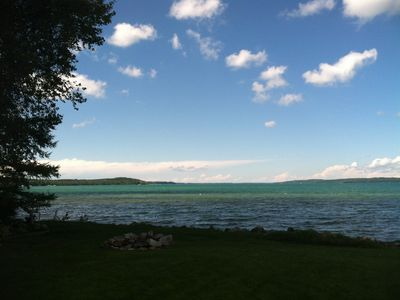 Photo for Beautiful Elk Lake Home 15 Min From Traverse! Newly Renovated, Sleeps 17 In Beds
