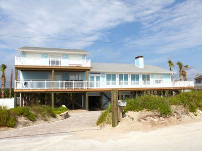 Front view of the house from standing on the beach.