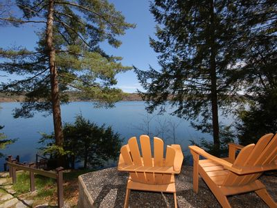 Photo for Very Private Lake house on the West Shore of Lake Bomoseen, Quiet, secluded.