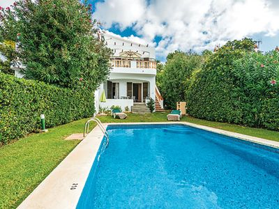 Photo for 3 bed 2 bath villa w/private pool, panoramic sea views from first floor terrace.