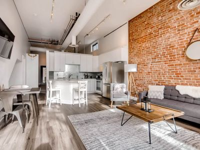 Photo for Industrial Design Flat | Historic Loft | Heart of LoHi
