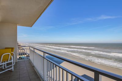 Incredible view, direct ocean front, from the huge 10th floor balcony.