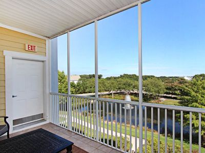 Photo for Panoramic views of the lake and 17 Hole in this 3BR, 3BA Bayside condo