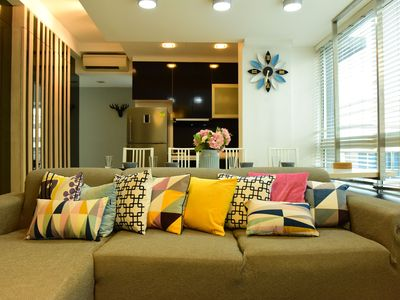Photo for Central/MRT/Cozy 3 Bedrooms Apartment