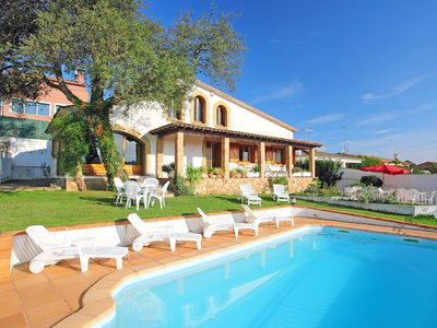 Photo for This 4-bedroom villa for up to 8 guests is located in Tordera and has a private swimming pool and Wi