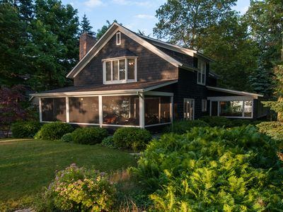 Photo for Knotty Pine - Lake Michigan Views from this Classic Nantucket Style Home
