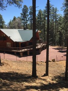 Photo for Authentic Log Cabin in the cool pines less than 2 hours from Phoenix.