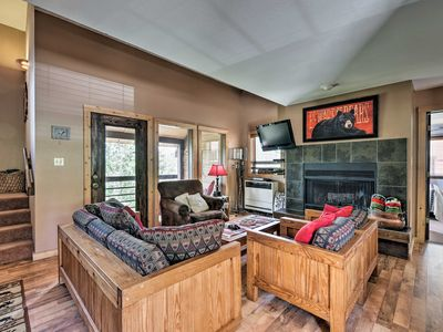 Photo for Spacious Rustic Condo w/Deck, Short Walk to Slopes