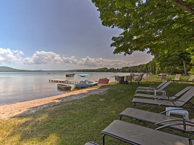 Photo for NEW! Lakefront Apartment+Suite w/Dock in Empire!