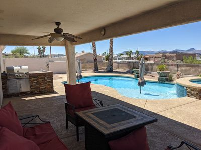 Photo for Beautiful Pool + Spa + BBQ Lake View Home w/ Boat and RV Parking!