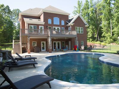Photo for Lake Norman Luxury Vacation Rental: Home theater  | Pool | Private dock