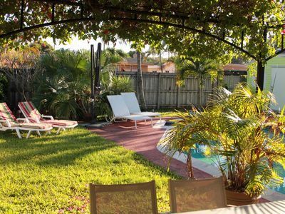 Photo for Nice  Tropical 3/2 Private   Heated Pool Home