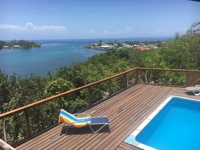 Photo for Cabina de Calabash, Water front, pool, dock, sleeps 6,  3 bedroom plus Loft.