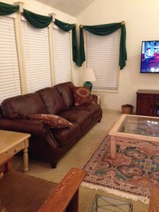 New comfortable leather couch