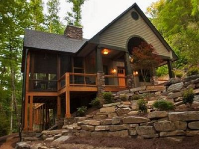 Photo for Creekside Luxury-Sparkling Hot Tub-2 Fireplaces-Lake Access-NOC 10 min. WiFi