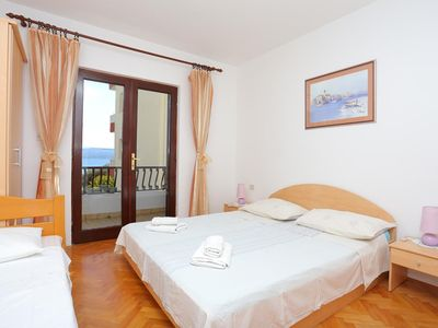 Photo for Three bedroom apartment with terrace and sea view Duće (Omiš)