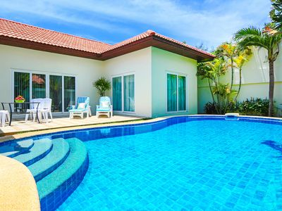 Photo for 3-bdr villa with Private pool and Beach