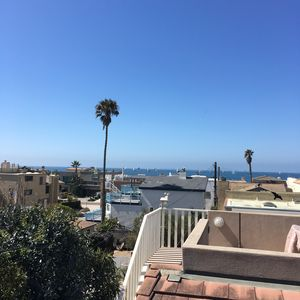 Ocean view from the roof deck, Wednesday afternoon Sailboat Regatta from harbor.
