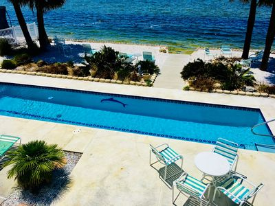 Photo for Beachfront Home w/private pool located directly on the Gulf of Mexico
