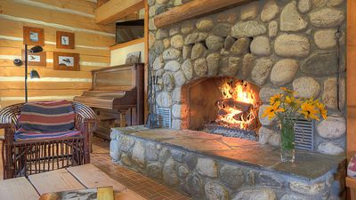 Photo for Enjoy Fall Colors in a Beautiful Log Cabin-Hike, Golf, Cycle, Relax by the Fire!