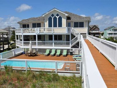 Photo for Beach Boys: Oceanfront home with heated private pool, hot tub and game room with pool table