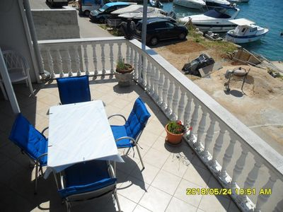 Photo for One bedroom apartment with terrace and sea view Tisno, Murter (A-15895-b)