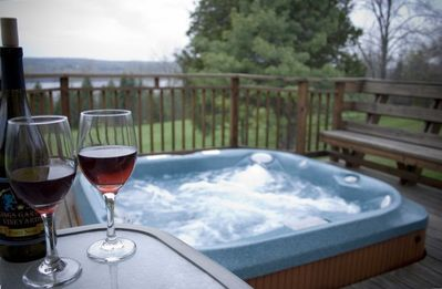 Photo for Private Lake View Home on 7 Acres with Hot Tub, on Wine Trail