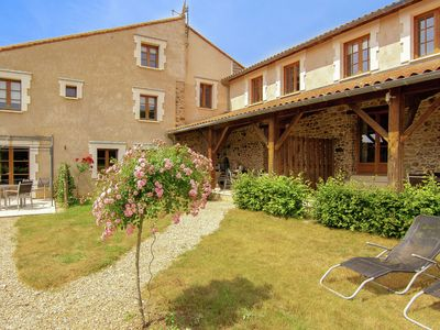 Photo for Lovely spacious cottage on a fine estate with a heated pool.