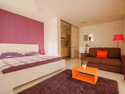 Photo for Cozy sea view studio apartment, 300m from the beach